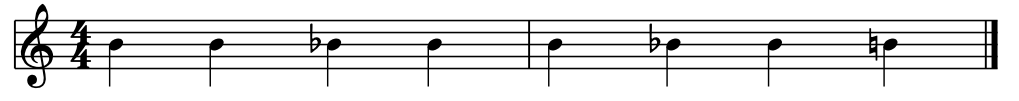 B notes in music notation